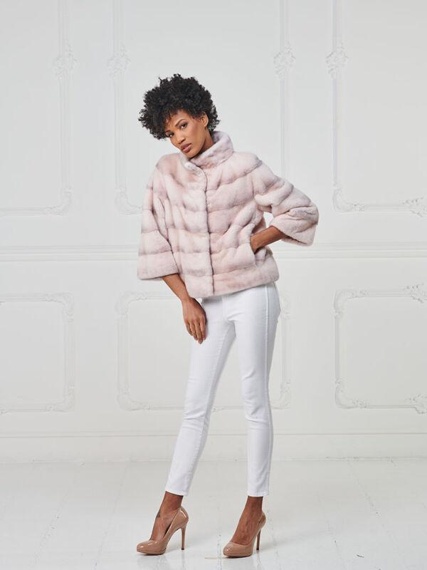 12 – Giacchino in visone crystal pink.