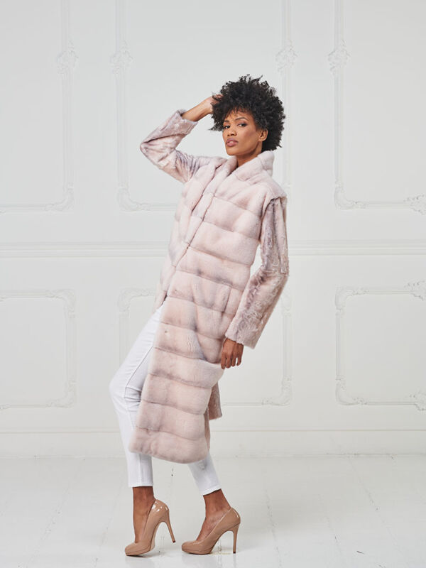 14 – Cappotto lungo in visone crystal pink e xiangao.