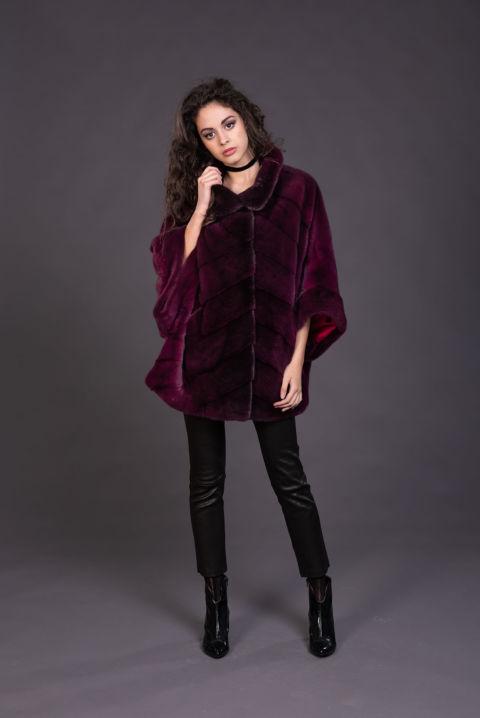 44 – Mantella in visone purple degradè.
